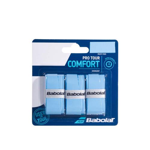 Babolat Pro Tour Comfort Overgrip 3 Pack (Blue)