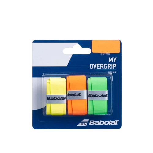 Babolat MY OVERGRIP 3 Pack (Yellow/Orange/Green )