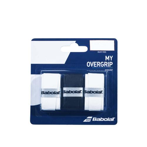 Babolat MY OVERGRIP 3 Pack (White/Black/White )