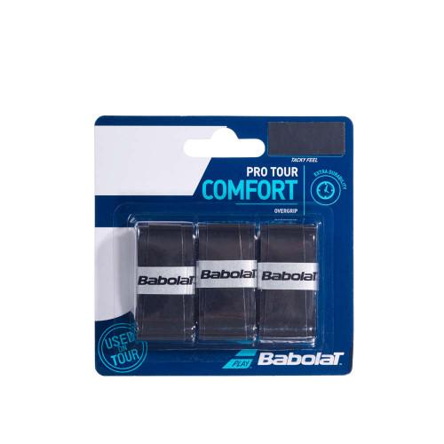 Babolat Pro Tour Comfort Overgrip 3 Pack (Black)