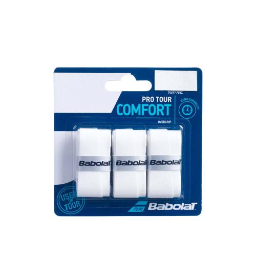 Babolat Pro Tour Comfort Overgrip 3 Pack (White)