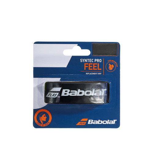 Babolat SYNTEC PRO FEEL Replacement Grip (Black/White)