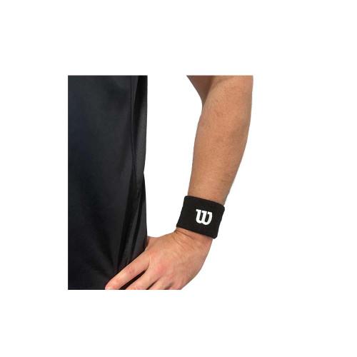Wilson Wrist Band 2 Pack Black