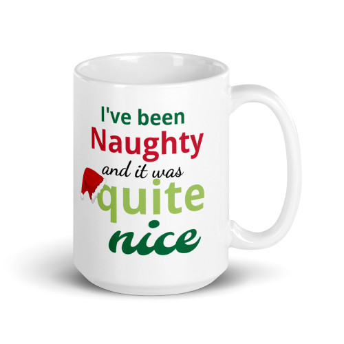 I Was Naughty Christmas Mug