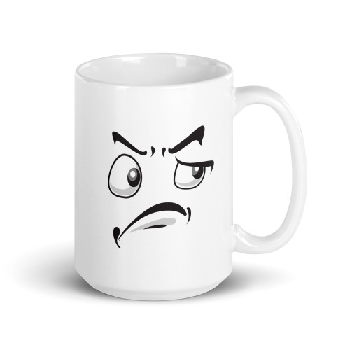 Smiling Side Eye Expression Mug