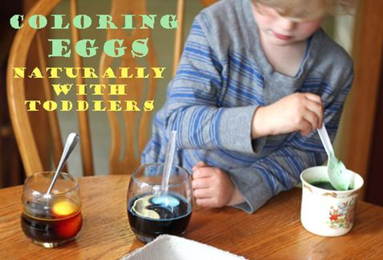 Coloring Eggs Naturally with Toddlers
