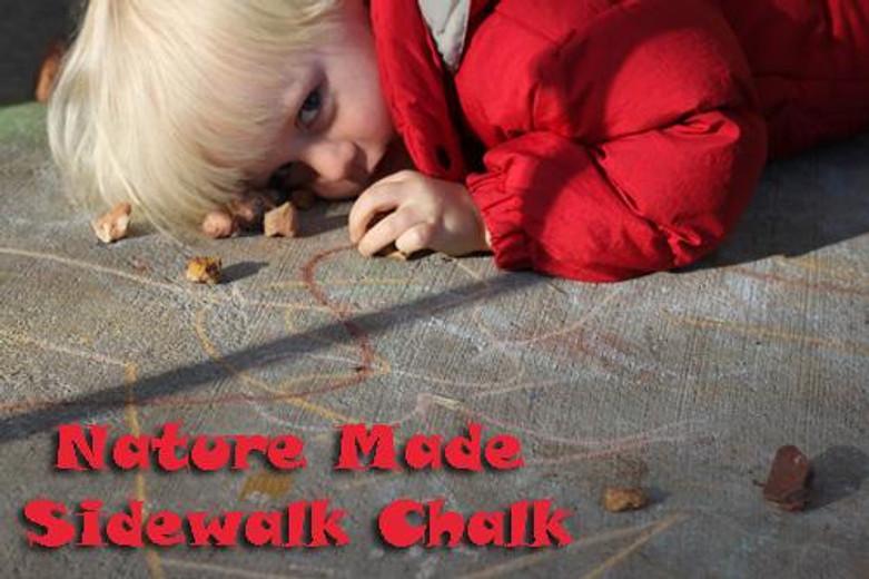 Nature Made Sidewalk Chalk - Find your art supplies in nature!