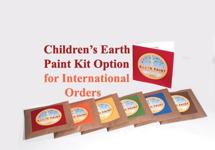 Good News for International Customers - cheaper shipping & cheaper Earth Paint Kits