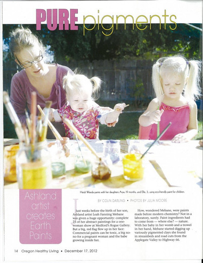 Natural Earth Paint Featured in Oregon Healthy Living Magazine!