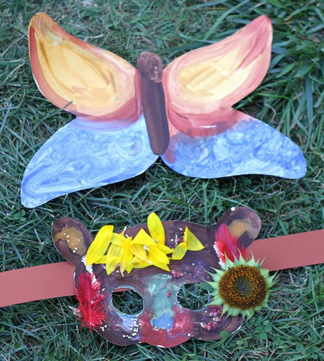 DIY Nature Masks with Natural Earth Paint