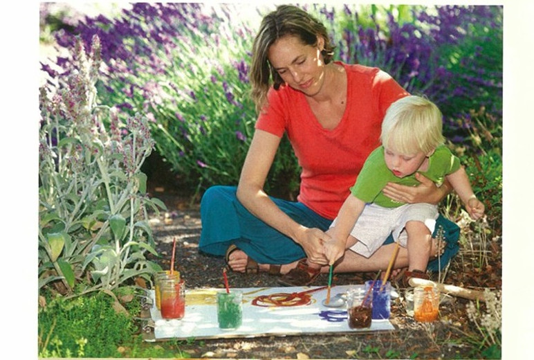 Earth Painting article in The Mother Magazine