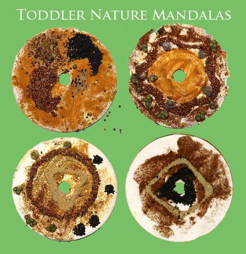 Recycled Nature Mandala Craft for Kids