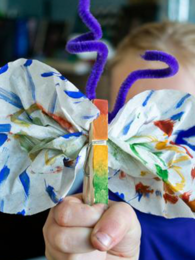 Mother's Day Painted Flower Pots & Recycled Butterflies