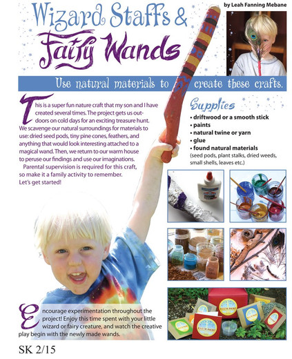 Making Wizard Staffs & Fairy Wands with Natural Earth Paint