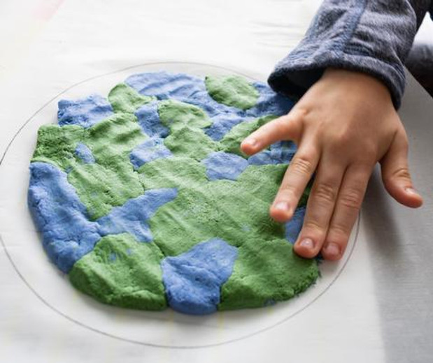 Earth Day Salt Dough with Natural Earth Paints