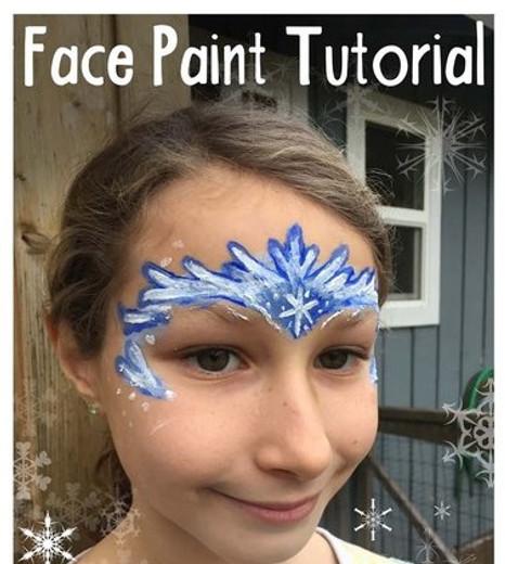 Queen Elsa Natural Face Paint Tutorial