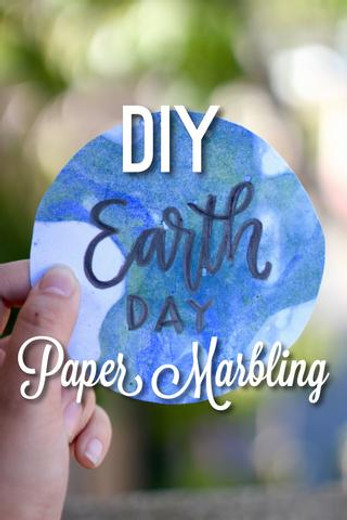 DIY Natural Marbled Paper for Earth Day
