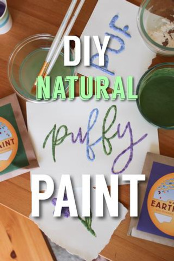 DIY Natural Puffy Paint