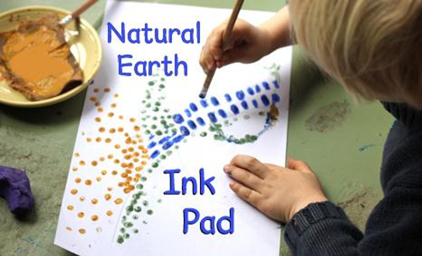 Make Your Own Eco Stamp Pad & Stamps [NATURAL EARTH PAINT]