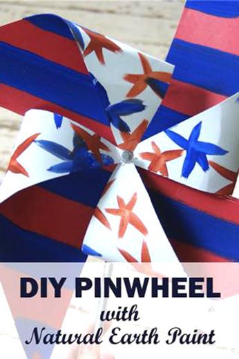 DIY Pinwheel with Natural Earth Paint