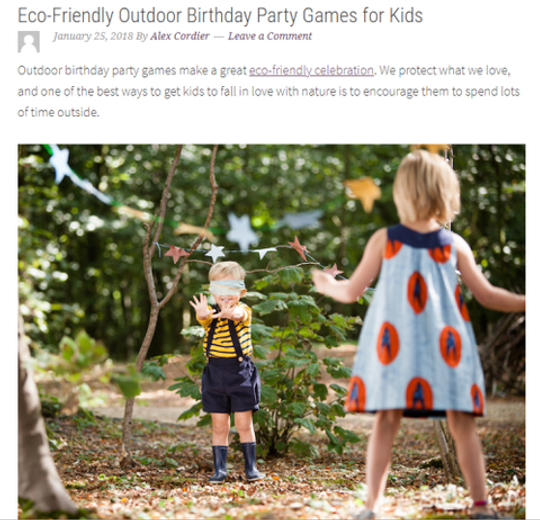 Natural Earth Paint in Green Child Magazine: Eco-Friendly Outdoor Party Ideas for Kids