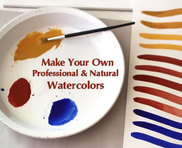 Make Your Own Professional & Natural Watercolors