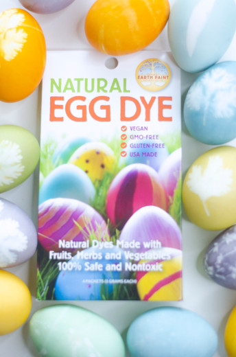 Botanical Print Easter Eggs with Natural Egg Dye