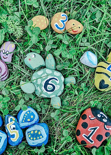 Number Rock Puzzles with The Barefoot Babies