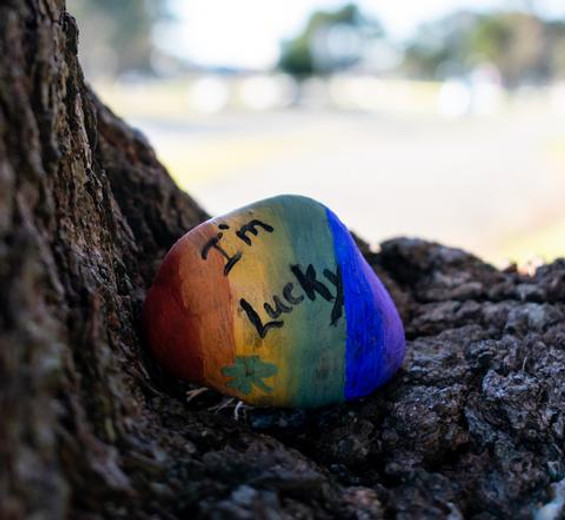 Lucky Painted Rocks with Natural Earth Paint