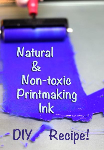 How to make Natural & Non-toxic Printmaking Ink
