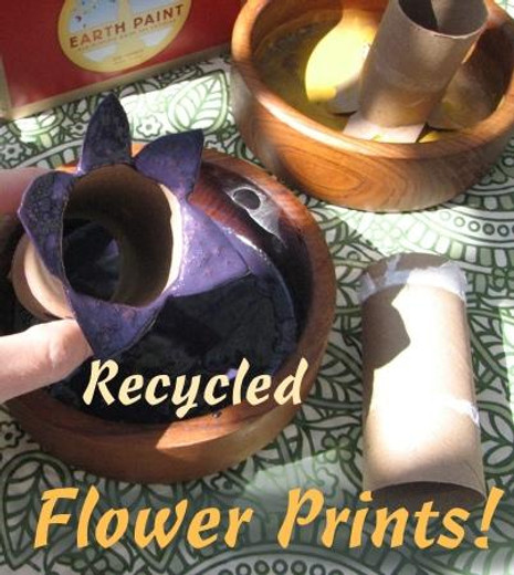 Recycled Summer Flower Prints