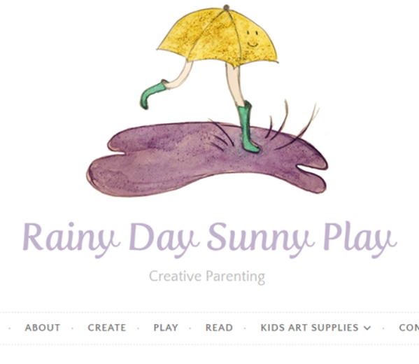 Earth Paint Kit Mentioned in Parenting Blog: Rainy Day Sunny Play