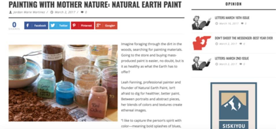 Read our latest article! Painting with Mother Nature: Natural Earth Paint