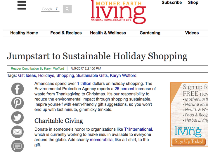Natural Earth Paint featured in Mother Earth Living Magazine: Jumpstart to Sustainable Holiday Shopping
