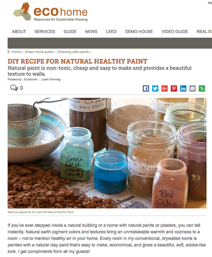 Featured on Eco Home: DIY Recipe for Natural Healthy Paint