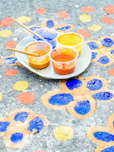 Bright & Colorful Summer Sidewalk Paint with Natural, Non-Toxic Earth Pigments