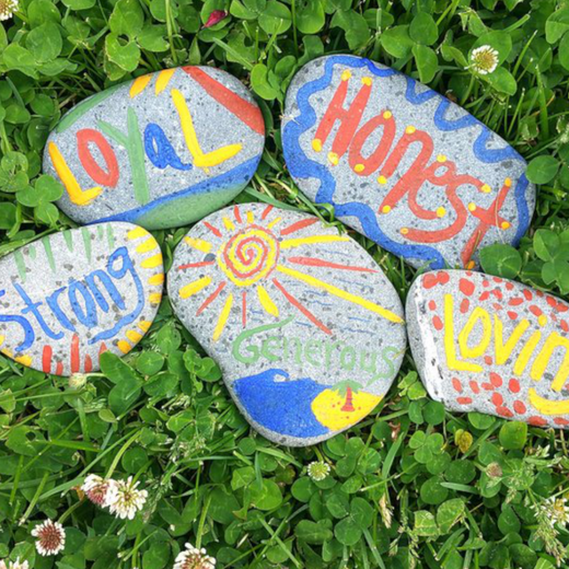 DIY Adoration Stones with Natural Earth Paint