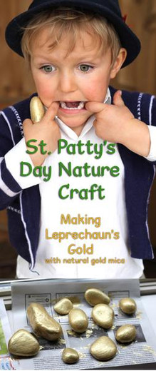 St. Patty's Day Nature Craft & Treasure Hunt [NATURAL EARTH PAINT]