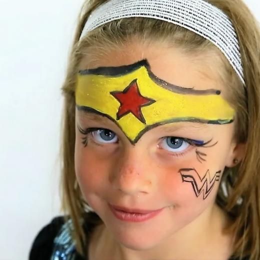 Natural Face Paints Featured on Romper! Wonder Woman Face Paint