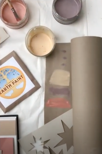 DIY Eco-Friendly Recycled Gift Wrap with Natural Earth Paint