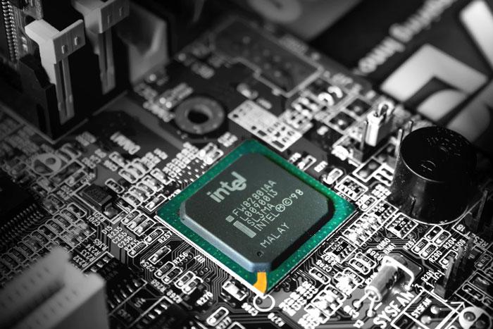 Green Intel chip