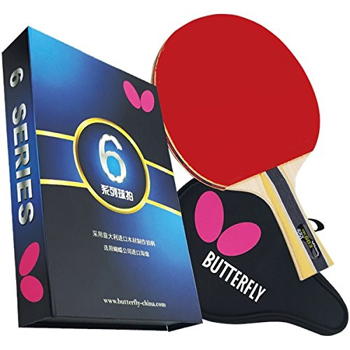 BUTTERFLY 603 SHAKEHAND RACKET WITH CASE.