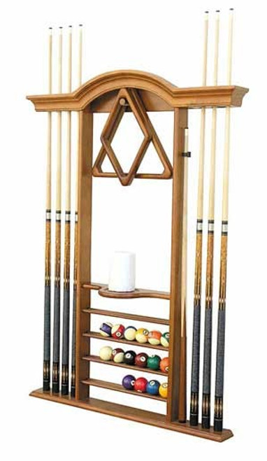 Arch Wooden Pool Cue Rack