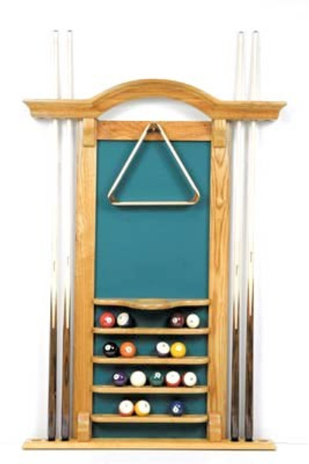 Arch Wall Cue Pool Rack - another view