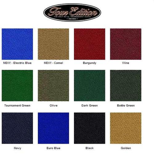Felt Colors For Pool Tables - Championship Tour Thumbnail 1