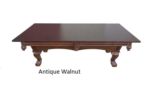 Antique Walnut Dining Table Conversion Top for Pool Table