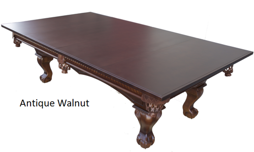 Dining Table Conversion Top for Pool Table - side view