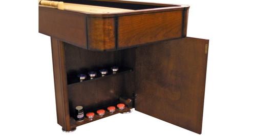 12 Foot C.L Bailey Shuffleboard table - Storage view