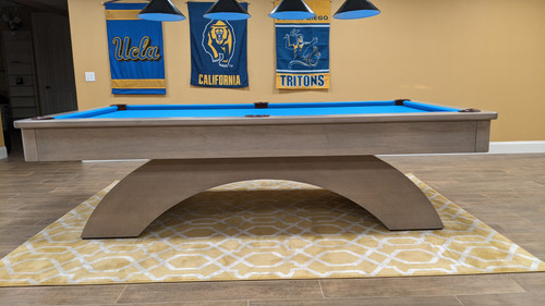 Wood Arch Pool Table