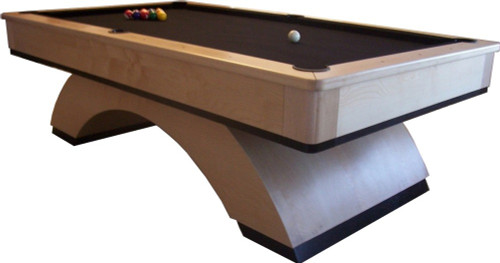 Contemporary Wood Arch Maple Pool Table